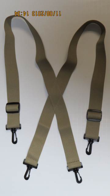 """2/"""" SIDEGRIP MEN/'S SUSPENDERS HEAVY DUTY PLASTIC AIRPORT CLEARANCE USA MADE"""