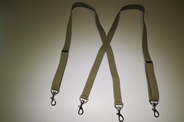 """CLIPS or Button On MADE IN USA SNAPS 1 1//2/"""" SIDEGRIP SUSPENDERS"""
